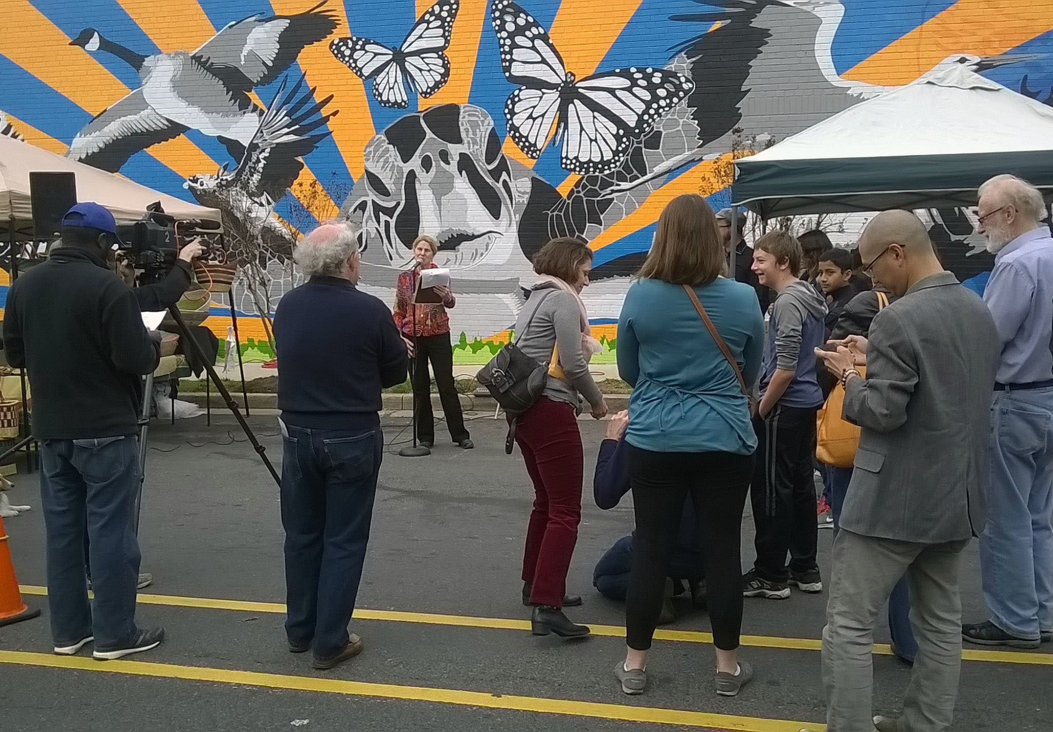 Events like the Holton Lane mural painting and unveiling are just a couple of the many examples of how Housing & Community Development brings Takoma Park residents together.