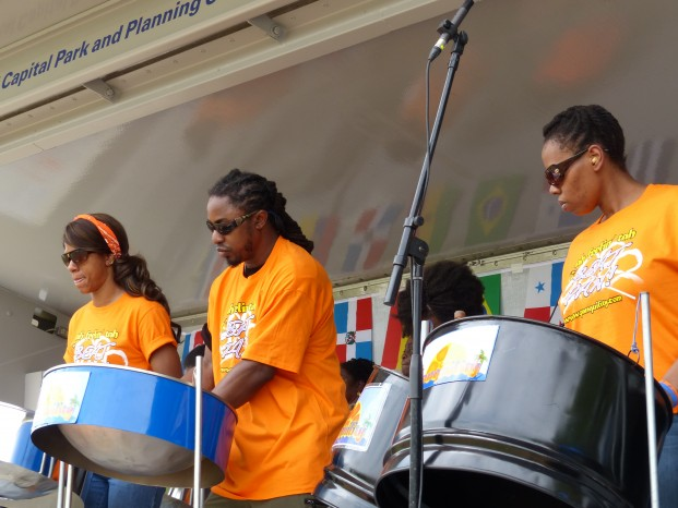 Steel Drum Band playing at the 2014 Celebrate Takoma festival (content image)