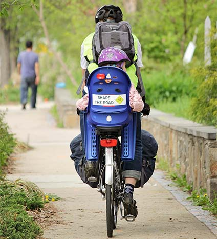 Bicyclists of all ages can enjoy a ride through Takoma Park.