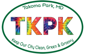 "Takoma Park Anti-Litter initiative logo. Text reads ""Takoma Park, MD 