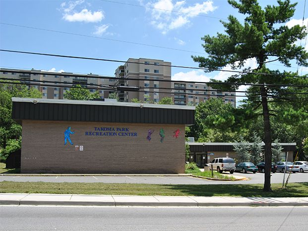 Exterior photo of Takoma Park Recreation Center