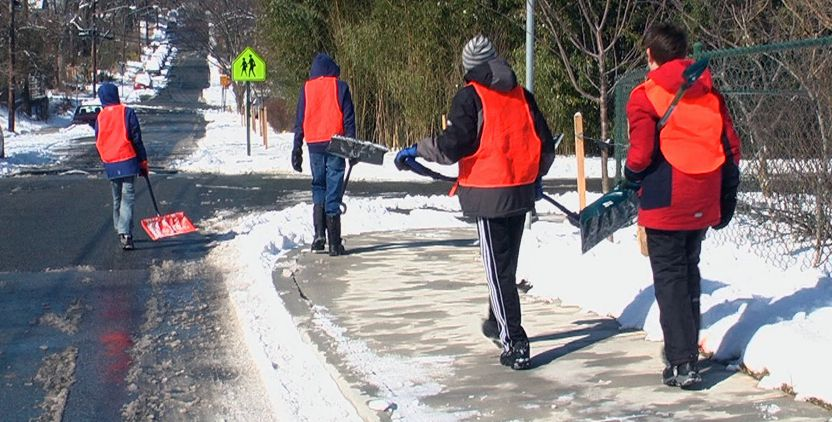 Photo of Snow Angel volunteers