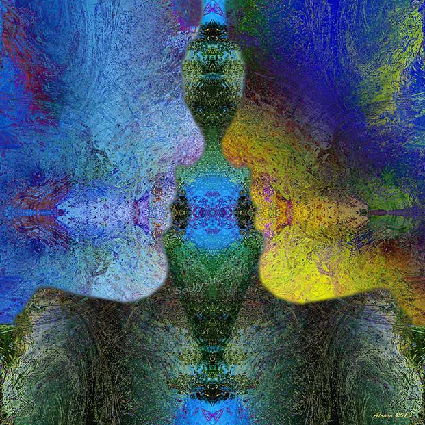 """""""One Soul"""" by digital artist Atousa Raissyan."""