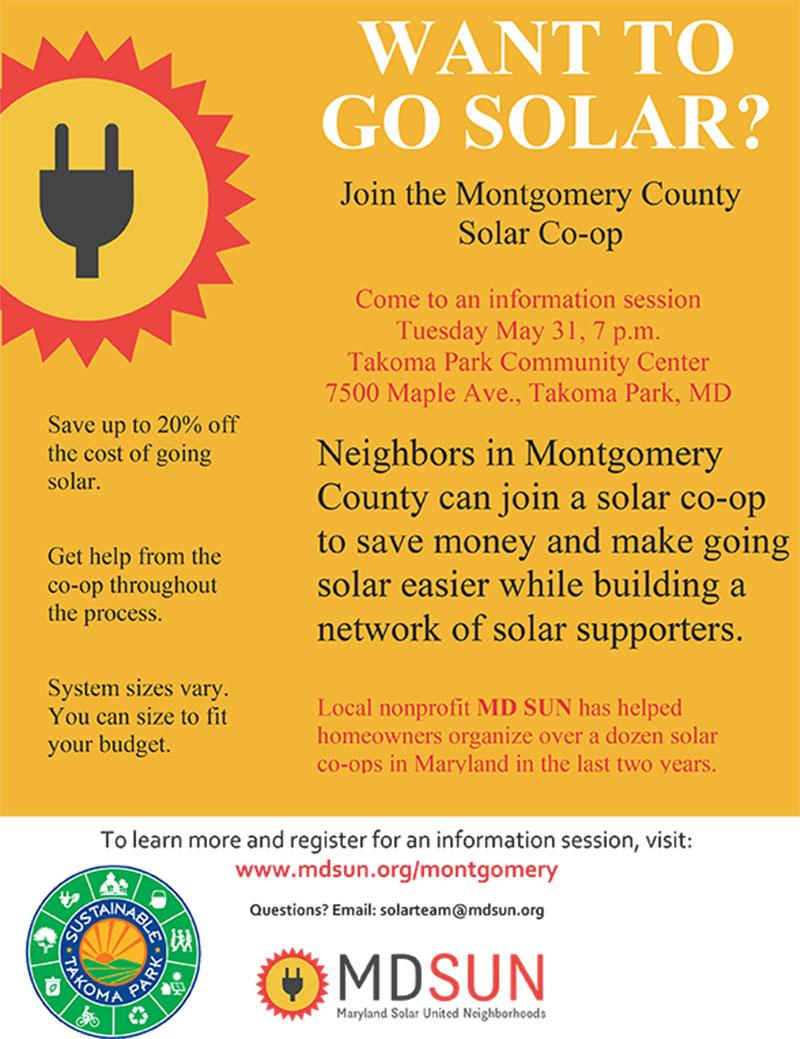 MD SUN Solar Co-op Flyer