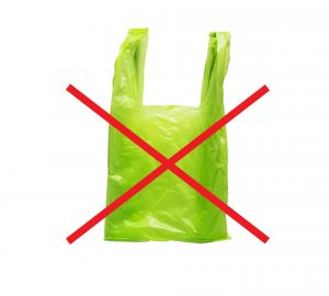 Icon of say no green plastic bag