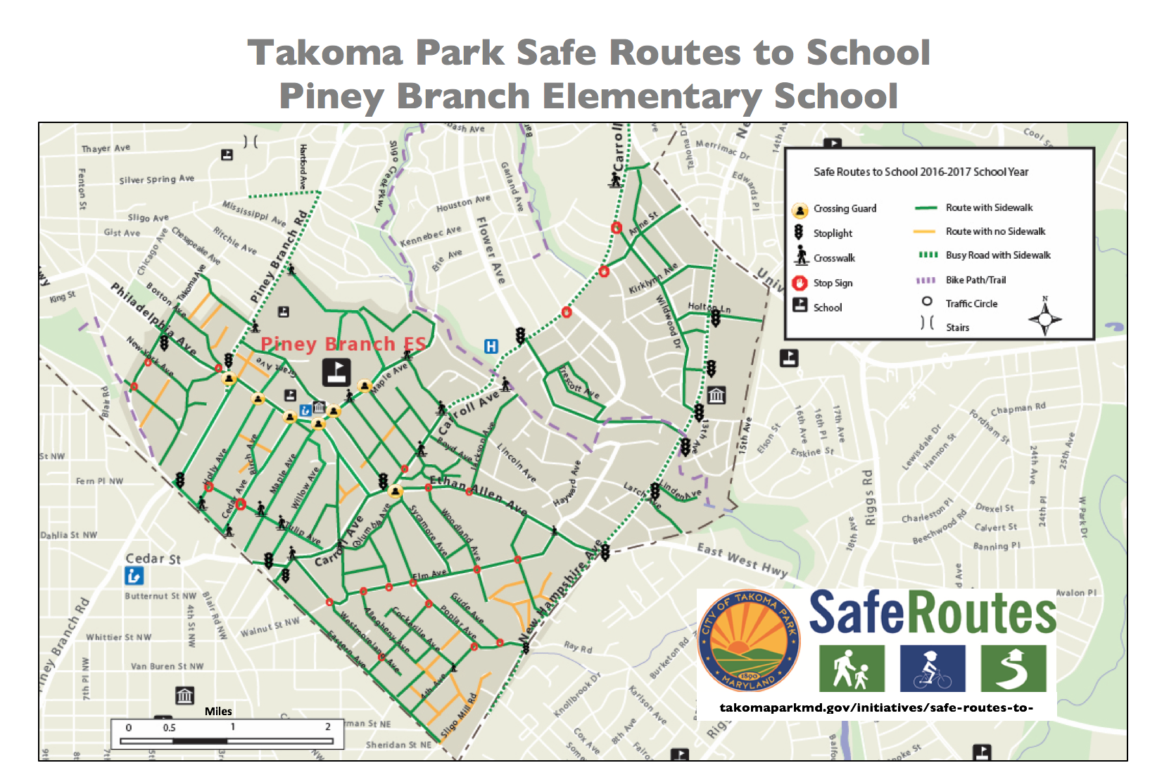 safe routes . map your route  city of takoma park
