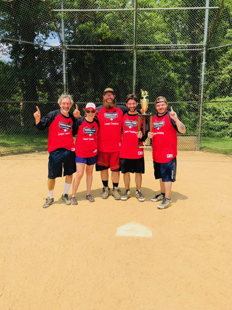 Adult Softball League   City of Takoma Park