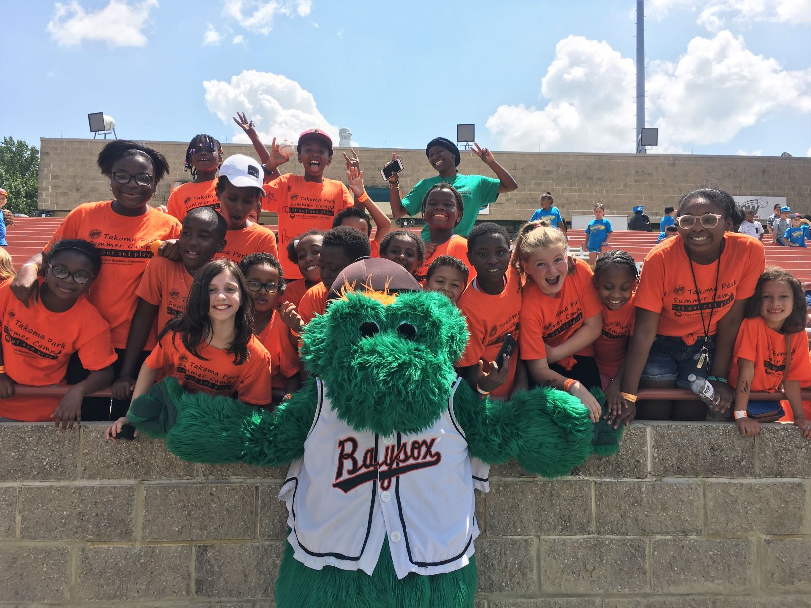 New Ave Adventure Camp at the Baysox Game